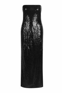 Womens Gemma Collins Bandeau Sequin Maxi Dress - black - 10, Black