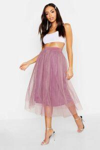 Womens Full Tulle Midi Skirt - purple - 10, Purple