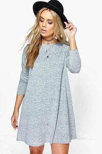 Womens Plus Swing Dress - grey - 20, Grey