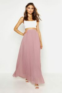 Womens Chiffon Pleated Maxi Skirt - beige - 14, Beige