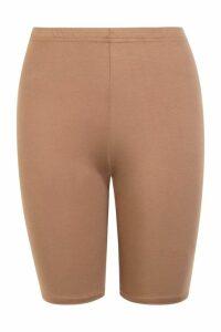 Womens Basic Cycling Shorts - beige - 16, Beige