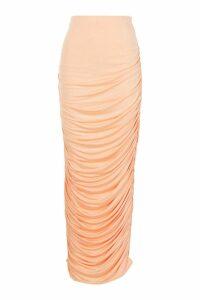 Womens Plus Slinky Ruched Midaxi Skirt - orange - 18, Orange