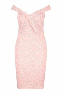Womens Plus Lace Sweetheart Mini Dress - pastel pink - 20, Pastel Pink