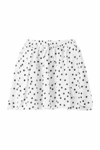 Womens Petite Spot Print Double Wrap Skort - white - 12, White