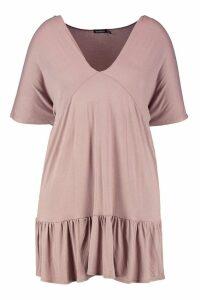 Womens Plus Kimono Sleeve Smock Dress - beige - 24, Beige