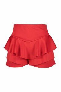 Womens Plus Ruffle Skort - red - 20, Red