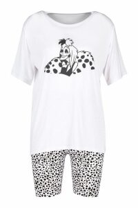Womens Disney License Cruella De Vil PJ Short Set - white - 16, White