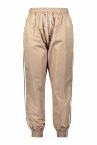 Womens Plus Side Stripe Shell Jogger - beige - 26, Beige