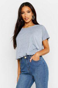 Womens Basic Oversized T-Shirt - grey - 14, Grey