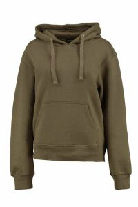 Womens Basic Solid Oversized Hoody - green - L/XL, Green