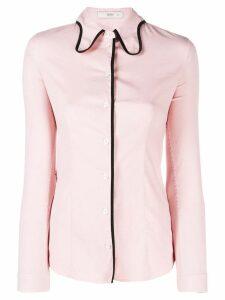 Prada Pre-Owned 1990's contrast trim shirt - Pink