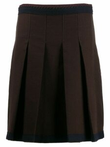 Prada Pre-Owned '1990s pleated skirt - Brown