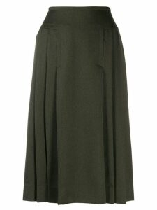 Céline Pre-Owned '1970s pleated skirt - Green