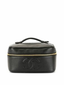 Chanel Pre-Owned 1995's CC Stitch Vanity bag - Black