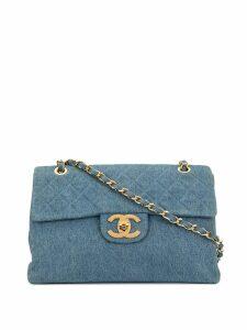 Chanel Pre-Owned 1990's Denim Classic Flap Chain Jumbo bag - Blue