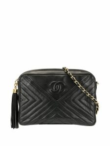 Chanel Pre-Owned V Stitch Tassel Chain bag - Black