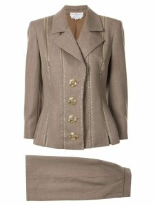 Valentino Pre-Owned slim studded skirt suit - NEUTRALS