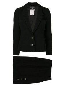 Chanel Pre-Owned woven skirt suit - Black