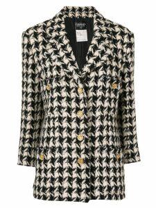 Chanel Pre-Owned houndstooth blazer - Black