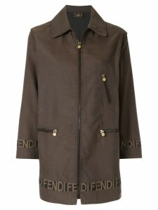 Fendi Pre-Owned logo detail jacket - Brown