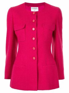 Chanel Pre-Owned fitted single-breasted jacket - Pink