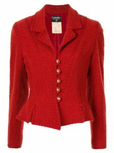 Chanel Pre-Owned stitching detail jacket - Red