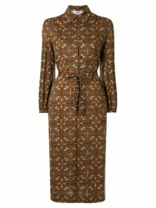 Hermès Pre-Owned horse pattern shirt dress - Brown