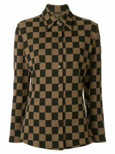 Fendi Pre-Owned checked slim shirt - Brown