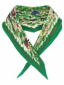 Hermès Pre-Owned Les Merises pleated scarf - Green