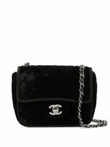 Chanel Pre-Owned velvet effect chain shoulder bag - Black