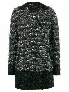 Chanel Pre-Owned 2010's contrast trim tweed jacket - Black