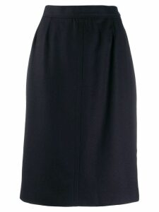 Yves Saint Laurent Pre-Owned 1980's high waisted midi skirt - Blue