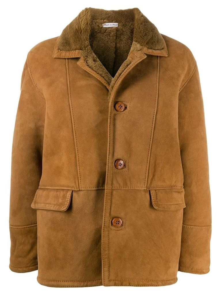 A.N.G.E.L.O. Vintage Cult 1980's shearling coat - Brown