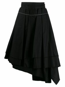 Comme Des Garçons Pre-Owned 1990's asymmetric pleated skirt - Black