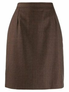 Valentino Pre-Owned 1980's checked skirt - Brown