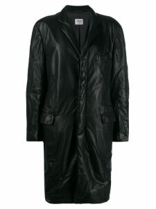 Giorgio Armani Pre-Owned 1990's crinkled effect coat - Black