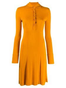 Romeo Gigli Pre-Owned 1990's fitted A-line dress - Yellow