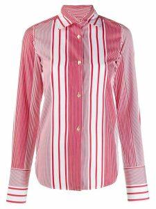 Romeo Gigli Pre-Owned 1990's striped slim shirt - White