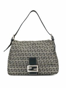 Fendi Pre-Owned Zucca pattern Mamma Baguette shoulder bag - Black