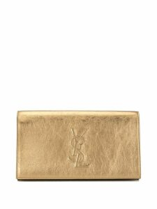 Yves Saint Laurent Pre-Owned logo Party clutch - Gold