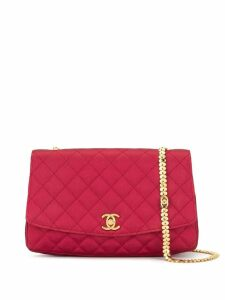 Chanel Pre-Owned diamond quilted chain shoulder bag - Pink