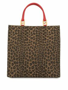 Fendi Pre-Owned leopard pattern tote - Brown