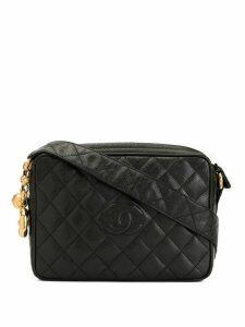 Chanel Pre-Owned diamond quilted shoulder bag - Black