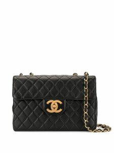 Chanel Pre-Owned Jumbo XL quilted chain shoulder bag - Black