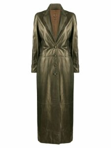Romeo Gigli Pre-Owned 1990's metallic long coat - Green
