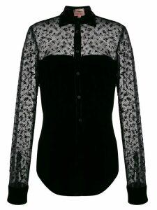 Romeo Gigli Pre-Owned 1997 sheer velvet blouse - Black