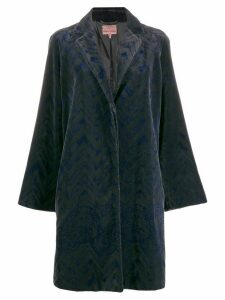 Romeo Gigli Pre-Owned 1997 zigzag textured coat - Grey