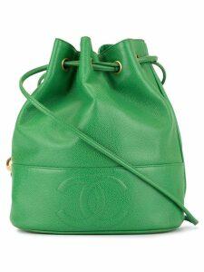 Chanel Pre-Owned CC drawstring shoulder bag - Green