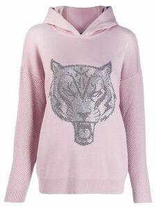 Plein Sport tiger print hoodie - Pink