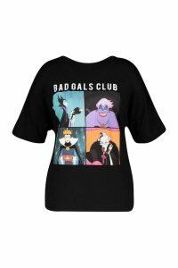 Womens Plus Disney 'Bad Gals Club' T Shirt - black - 26, Black